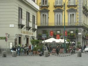 Gambrinus visto da piazza Plebiscito