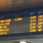 RItardi treni, cartellonistica