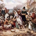 pranzo ringraziamento tra nativi e colonizzatori