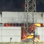 Incendio ex fabbrica Castellammare di Stabia