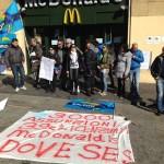 Dipendenti McDonald's in sciopero
