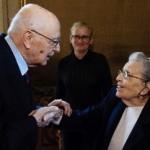 Incontro tra Napolitano e Lidia Croce
